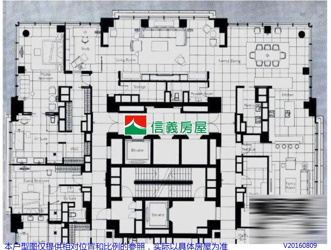 高层住宅楼标准层一层六套房砖结构图图