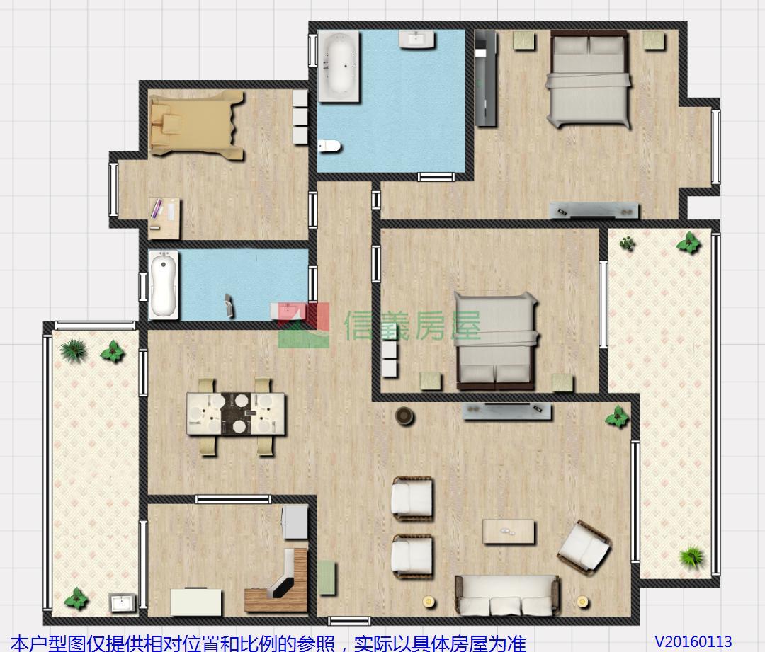 求:平房房屋设计图,130平米左右,要有四卧室一客厅,一
